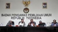 Badan Pengawas Pemilihan Umum (Bawaslu) menggelar diskusi dengan tema 'Tahapan Pencalonan Pilkada di Depan Mata, Bagaimana Kesiapan KPU, Bawaslu dan Pemerintah Daerah' di Gedung Bawaslu, Jakarta, Jumat (21/5/2015). (Liputan6.com/Yoppy Renato)