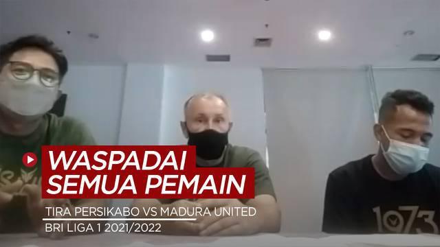 Berita Video Pelatih Tira Persikabo, Igor Kriushenko Minta Waspadai Semua Pemain Madura United Jelang Laga BRI Liga 1