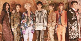 Beberapa waktu lalu, Super Junior comeback di dunia musik K-pop dengan merilis single terbaru yang berjudul Lo Siento. Single terbaru ini mempunyai nuansa musik latin. (Foto: Allkpop.com)