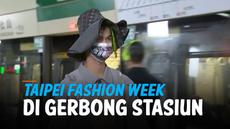 Desainer Taiwan, Huang Shih-Shun mengubah kereta bawah tanah Taipei City menjadi panggung catwalk untuk acara Taipei Fashion Week, Minggu, 10 Oktober 2021 kemarin.