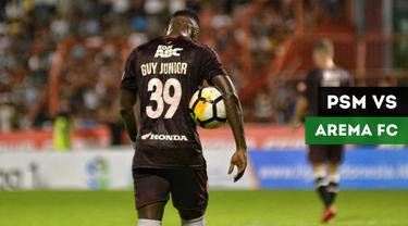 Gol-gol yang tercipta pada laga lanjutan Gojek Liga 1 2018 bersama Bukalapak antara PSM Makassar melawan Arema FC yang berakhir dengan skor 2-1, Minggu (14/10/2018).