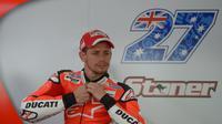 Casey Stoner menjadi pembalap penguji Ducati di Sirkuit Sepang (MOHD RASFAN / AFP)