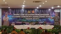 Kapolri Tito dan Panglima TNI Hadi Gelar Rapat Penutupan Asian Games 2018 (Liputan6.com/Nanda Perdana)