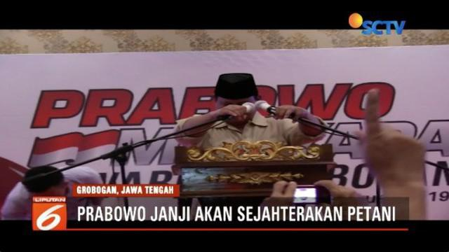 Kampanye di Blora dan Grobogan, Prabowo Subianto soroti masalah pengelolaan negara dan kesejahteraan petani.