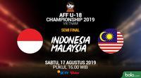 Timnas Indonesia U-18 - Indonesia Vs Malaysia (Bola.com/Adreanus Titus/Faris Kholid)
