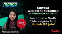 Mabar Blitz Chess bersama WGM Irene Sukandar. (Dok. Vidio)