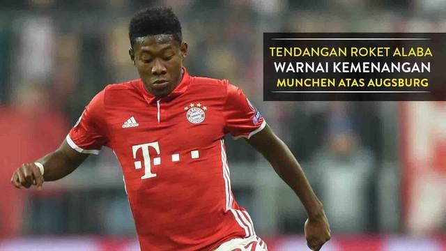 Video gol spektakuler David Alaba saat Bayern Munich mengalahkan Augsburg 3-1 di DFB Pokal, Kamis (27/10/2016) dinihari WIB