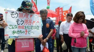 Warga menuntut pangkalan AS di Okinawa dienyahkan