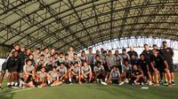 Timnas Singapura kembali ke negara asal setelah hampir dua pekan menggelar TC jelang Piala AFF 2018 di Osaka, Jepang. (Bola.com/Dok. FAS)