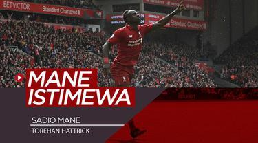 Berita video bintang Liverpool, Sadio Mane, memiliki keistimewaan dalam urusan mencetak hattrick atau trigol. Apa keistimewaan tersebut?