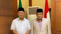 Bupati Sarolangun Cek Endra bertemu ketua umum PBNU Said Aqil Siradj. (Istimewa)