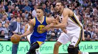 Golden State Warriors mengukir rekor baru dalam sejarah klub saat mengalahkan Utah Jazz 103-96 melalui babak overtime.