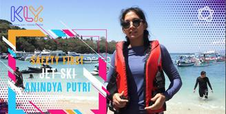 Ini perlengkapan keselamatan Jet Ski Anindya Kusuma Putri.