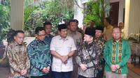 Pertemuan antara Ketua Umum Partai Gerindra Prabowo Subianto dengan petinggi PPP, Kamis (15/8/2019). (Liputan6.com/ Nanda Perdana Putra)