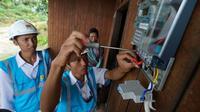 Petugas PLN memasang listrik untuk warga Kutai Kartanegara (Dok Foto: PT PLN (Persero)
