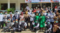 Gubernur Jawa Barat Memperingati Hari Guru dan HUT ke-75 PGRI di Cakra Buana di Kecamatan Pancoranmas, Kota Depok, Jawa Barat. (Liputan6.com/Dicky Agung)