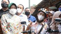 Menteri Sosial Tri Rismaharini bersama Gading Ogi Saputra (Tangkapan Layar Kemensos)