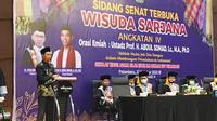 Ustaz Abdul Somad memberikan wejangan kepada wisudawan STAI Lukman Edy. (Liputan6.com/Istimewa)