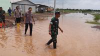 Banjir Merendam Dua Kecamatan di Kabupaten Serang, Banten pada Sabtu (1/2/2020). (Foto: Yandhi Deslatama/Liputan6.com)
