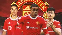 Manchester United - Cristiano Ronaldo, Mason Greenwood, Harry Maguire (Bola.com/Adreanus Titus)