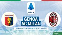 Serie A - Genoa Vs AC Milan (Bola.com/Adreanus Titus)