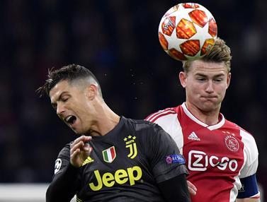 Aksi Matthijs de Ligt Saat Berduel dengan Ronaldo