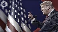 Ilustrasi Pilpres AS 2020, Donald Trump. (Liputan6.com/Abdillah)