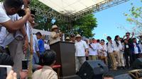 Capres Prabowo Subianto berkampanye di Manado. (Liputan6.com/Yoseph Ikanubun)