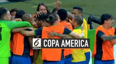 Brasil memastikan diri lolos ke final Copa America setelah mengalahkan Argentina. Brasil berhasil menang 2-0 hingga akhir pertandingan.