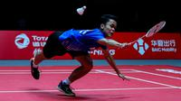 Anthony Sinisuka Ginting  di BWF World Tour Finals 2019. (PBSI)