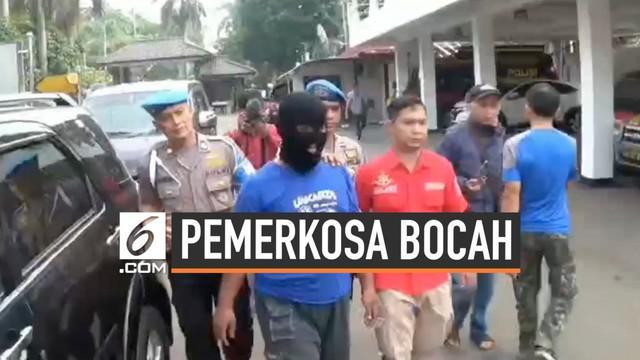 Polres Bogor berhasil ungkap kasus pemerkosaan bocah. Pelaku ternyata masih di bawah umur. Ia tertangkap di Setu Bekasi Jawa Barat.