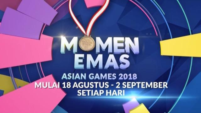 Berita video promo Momen Emas Asian Games 2018 yang ditayangkan eksklusif di Indosiar pada 18 Agustus sampai dengan 2 September 2018.