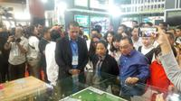 Menteri Badan Usaha Milik Negara (BUMN) Rini Soemarno mengunjungi Indonesia Property Expo (IPEX) di Jakarta Convention Centre (JCC), Sabtu (2/2/2019).
