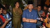 Bupati Malang, Rendra Kresna usai penggeledahan KPK di Pendopo Kabupaten Malang (Liputan6.com/Zainul Arifin)