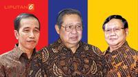 Joko Widodo, Susilo Bambang Yudhoyono, Prabowo Subianto (Liputan6.com/Triyasni)