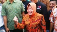 alon Wali Kota Surabaya yang diusung Partai Demokrasi Perjuangan Indonesia Perjuangan (PDIP), Tri Rismaharini. (Liputan6.com/Dian Kurniawan)