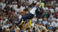 Didier Deschamps. (AP/Francisco Seco)