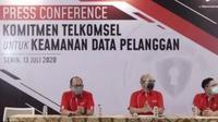 Press Conference Komitmen Telkomsel untuk Keamanan Data Pelanggan. Liputan6.com/M Wahyu Hidayat