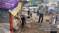 Lokasi kecelakaan maut di Puncak, Bogor, Sabtu (17/10/2020). (dok Polres Bogor)