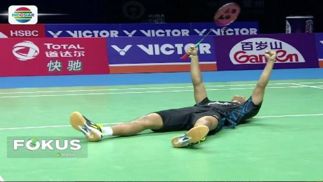 Berhasil juarai China Open 2018, Anthony Ginting akhiri puasa gelar tunggal putra sejak 1994.
