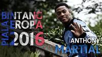 Gol indah Martial ke gawang Liverpool diharapkan mampu diulangi bintang timnas Prancis itu saat berlaga di Piala Eropa 2016 nanti.