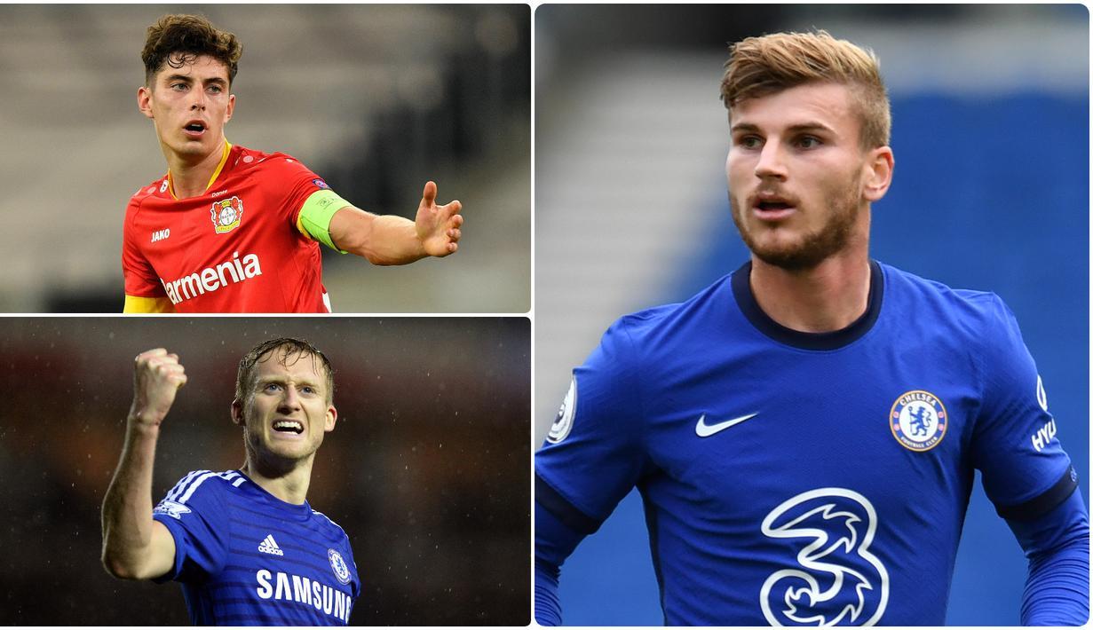 Chelsea jadi salah satu klub Liga Inggris yang banyak mendatangkan pemain di bursa transfer musim panas ini. Timo Werner dan Kai Havertz menjadi rekrutan pemain asal Jerman yang dilabuhkan Chelsea. Berikut 6 pemain Jerman yang direkrutan Chelsea.