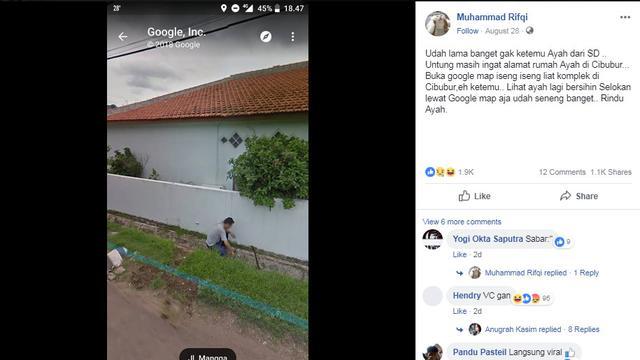 Viral! Kisah Pemuda Yang Tidak Pernah Bertemu Dengan Ayahnya Justru Dipertemukan Lewat Aplikasi Google Maps