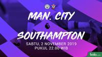 Premier League - Manchester City Vs Southampton (Bola.com/Adreansu Titus)
