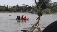Penemuan mayat berbadan besar mengambang di Kali Cisadane menggegerkan warga Karawaci, Kota Tangerang, Senin (28/1/2019).