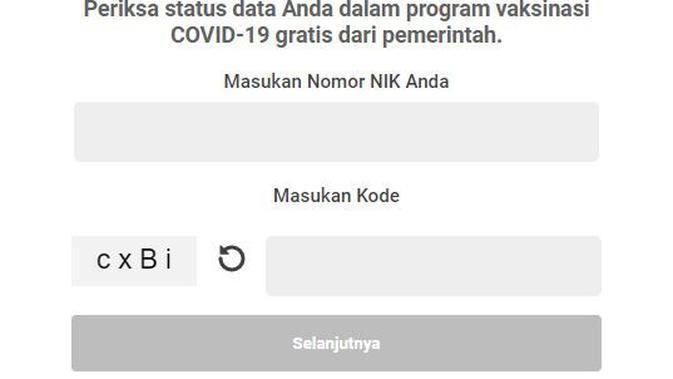 Cek Apa Nama Kamu Terdaftar Sebagai Calon Penerima Vaksin Covid-19. Dok: pedulilindungi.id