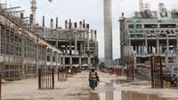 Suasana pembangunan Jakarta International Stadium, Jumat (23/10/2020). Hingga pekan ke-59, progres konstruksi Jakarta International Stadium sudah mencapai 31,89 persen dan ditarget akan selesai pada akhir 2021. (Liputan6.comHelmi Fithriansyah)