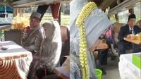 Viral Pasangan Pengantin Gelar Pernikahan Di Atas Bus, Hindari Kerumunan. (Sumber: Twitter/Don_Harriz)