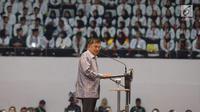 Wakil Presiden Jusuf Kalla berbicara dalam acara Presidential Lecture 2019 di Istora Senayan, Jakarta, Rabu (24/7/2019). Kegiatan yang diikuti oleh 6.148 CPNS hasil seleksi tahun 2018 itu mengangkat tema Sinergi Untuk Melayani. (merdeka.com/Imam Buhori)