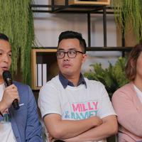 Rivat Sungkar suami Sissy Priscillia mengaku antusias ketika mendapat ajakan main dalam film Milly & Memet. Baginya, ikut berakting sebagai bentuk support kepada istrinya yang kembali lagi ke layar lebar. (Deki Prayoga/Bintang.com)